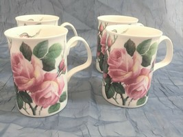 4 ROY KIRKHAM ENGLISH ROSE Fine Bone China Tea Coffee Cup Mug New in Box... - $49.49