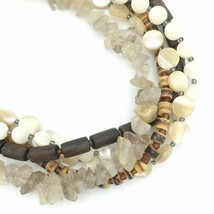 SILPADA sterling mixed bead necklace -  stone wood mother of pearl N1507... - $29.40