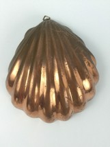 Shell Shape Salad Jello Cake Mold Wall Hanging 3 1/2 Cup Copper Patina A... - $19.60