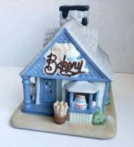 Cottage Bakery Tealight Candle Holder Blue Porcelain Olde World Partylit... - $15.79