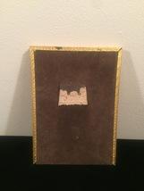 """Vintage 40s gold ornate 5"""" x 7"""" frame with red under front gold design image 5"""