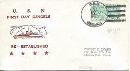 MARSHALL (DD-676) 27 April 1951 1st Day Postal Service Nicholson Cachet - $3.47