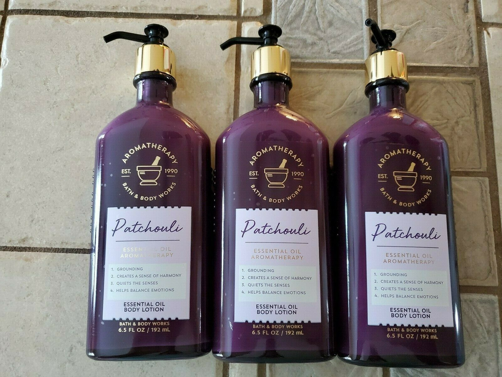 Bath & Body Works Patchouli Essential Oil Body Lotion 6.5 fl oz (3 pack)