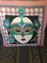 """Needlepoint Pillow 20"""" X 20"""" Theatre India Moir... - $51.48"""