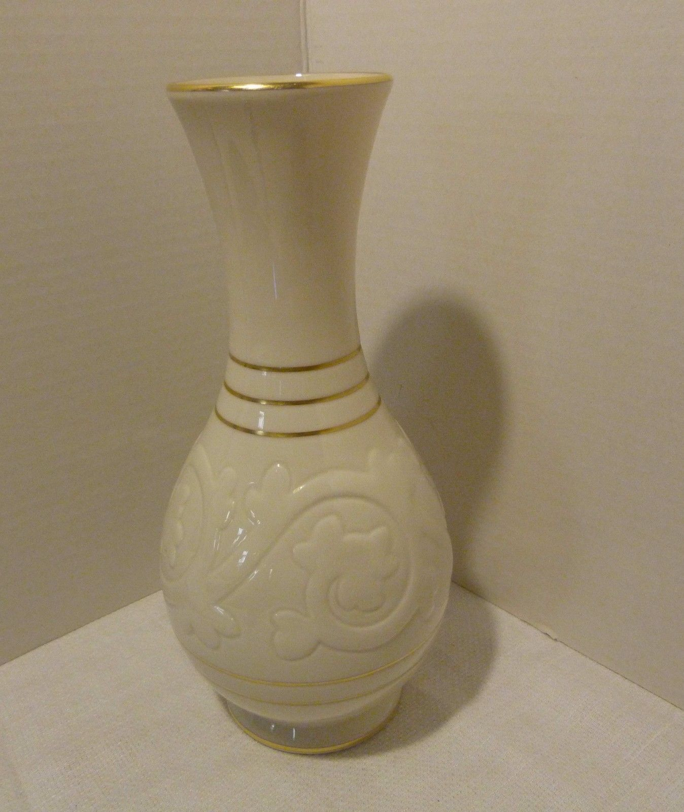 Lenox USA Rare Ivory and Gold Trim Vase Pattern 2078 Blue/Green Mark 1931-1953