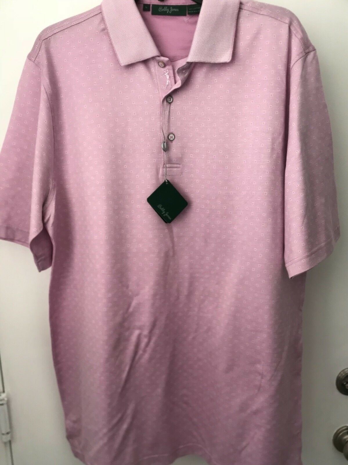 Primary image for Bobby Jones Mens L Lilac Cotton Golf Polo Shirt NWT