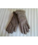 UGG Gloves Slim Tech Shearling Water Resistant Stormy Grey Medium - $113.84