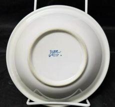 "Design Concepts Cereal Bowls Set of 4, 7"" Soup Bowls, White, Blue Trim Tulips image 6"