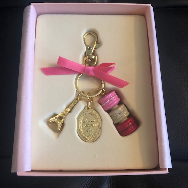 Primary image for BRAND NEW Authentic Rare/Limited Edition Laduree Pink Macaron Keychain