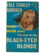 ORIGINAL Vintage 1951 Perry Mason Case of Black Eyed Blonde Paperback Book - $24.74