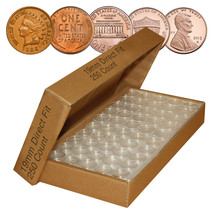 PENNY Direct-Fit Airtight 19mm Coin Capsule Holders For PENNIES (QTY: 250) - $59.35