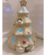 Lenox Seasons Sparkle Color Changing Lit Christmas Tree Figurine - $37.40