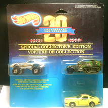 1987 Hot Wheels 20th Anniversary Cars Collector Ed. - Corvette Army Truck Datsun - $21.03