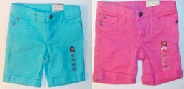 Arizona Jeans Co Toddler Girls Jean Shorts Pink or Blue Sizes 2T or 4T NWT - $10.39