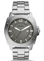 NEW AUTHENTIC FOSSIL PRIVATEER SPORT SILVER GREY MEN'S BQ2320 WATCH - $74.99