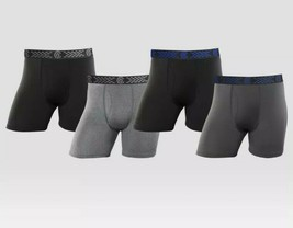 C9 Champion® Men's Duo Dry Every Day Active Black Gray 4pk Boxer Briefs ... - $20.56
