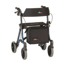 Nova Forte 23″ Foldable Rollator Rolling Walker with 300 lb Weight Capacity - $227.95