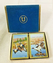 2 Pack Vintage Never Opened Decks of Playing Cards w Ducks Flying Colorful - $18.32
