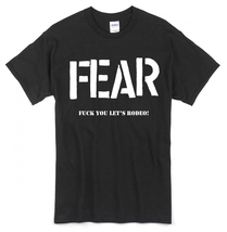 Fear T-shirt ~ Sizes S-2XL Lee Ving/Punk/Los Angeles/Beer/Misfits/Black ... - $18.31+