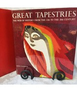 Great Tapestries a book by Edita Lausanne with Slipcase 1965 Red Silk Cover - $44.55