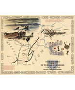 "16""x20"" 1945 WWII Military War Map OVER THE RHINE 79th Infantry Division Poster - $16.34"
