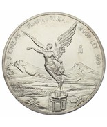 2009 .999 Argento Messicano Libertad 5 Onzas W/Plastica Capsula - ₹16,890.19 INR