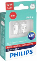Philips 194RLED Ultinon LED Bulb (Red), 2 Pack - $8.59