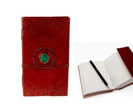 Embossed Leather Stone Fitted Unlined Journal Blank Book (9X5X1 - INCH) - $32.17