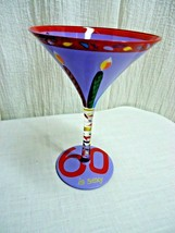g167 Lolita Martini Glass 60 IS SEXY Birthday Candles Hand Painted Recip... - $19.79