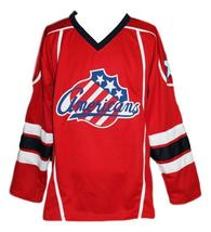 Custom Name # Rochester Americans Retro Hockey Jersey New Red Cherry #2 Any Size image 5