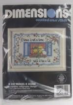 "1990 Vintage Dimensions Cross Stitch Kit 5"" x 7""  A Cat Makes A Home  - $14.85"