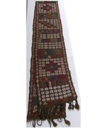 Handmade Traditional Embroidered Rug Carpet Kilimi early 20th century - $308.20