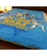 Star Wars The Clone Wars Twin Comforter Blanket Jedi Yoda Anakin Obi Wan... - $24.99