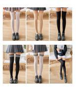 1 Pair Stripe Stockings Girls Women Over Knee Thigh High Over The Knee S... - $13.86