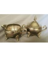 Vintage International Silver Company Silver Plated Creamer and Sugar Set - $22.50