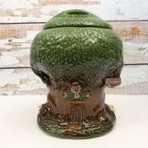 Vintage Keebler Elf In Tree Factory Treehouse Cookie Jar Ceramic 1980s E... - $37.39