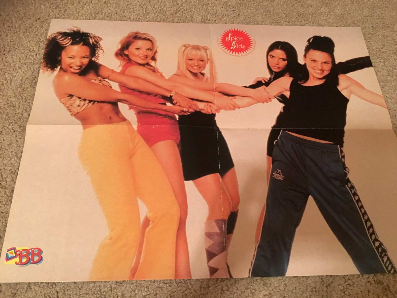 Primary image for Spice Girls Hanson teen magazine poster clipping holding hands Big Bopper