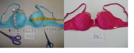 Calvin Klein F3557 Eyelash Chantilly Demi Bra BLUE 34D-NWT-Pink 34C NWOT - $19.13