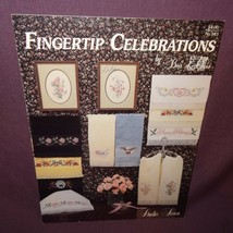 Fingertip Celebrations Towels Cross Stitch Pattern Booklet 243 1991 Bea ... - $7.99