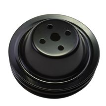 Short Water Pump Pulley SWP Double-Groove For Small Block Chevy SBC 262 327 400 image 7