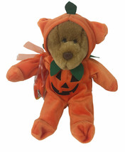 "Bear With Halloween Pumpkin Costume 12"" Plush And Bag - $20.78"