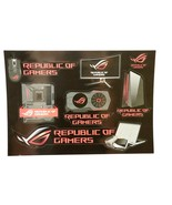 ASUS Republic of Gamers ROG Sticker Sheet of 7 Color Images Logo New  - $19.79