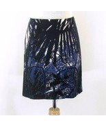 TAHARI Size 4 Blue Black Short Straight Skirt New - $12.99