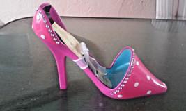 NEW Stiletto High Heel Shoe Bling Rhinestones Wine Bottle Holder Pink Pu... - $23.75