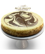 "Andy Anand Chocolate Marble Cheesecake 9"" 2 lbs Fresh Made Free Air Ship... - $39.84"