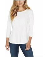 Kirkland Signature Ladies' Cotton Slub Tee White XX-Large - $12.38