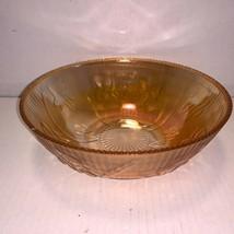 "Vintage Jeanette Iris & Herringbone Marigold Fruit Bowl 8"" - $20.00"
