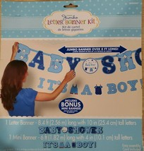"""2 Jumbo Banners - A 6 Foot """"It's A Boy!"""" 8 Foot """"Baby Shower"""" Banner - New! - $6.89"""