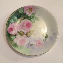 D & Co France Hand Painted Floral Antique Plate R. Delinieres & Co. Porc... - $29.69