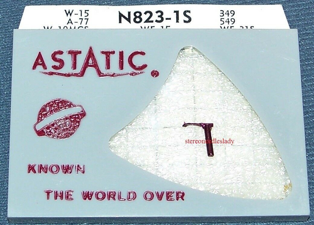 ASTATIC N823-1S PHONOGRAPH NEEDLE STYLUS for Webster A-1J A-1M Webster WE15